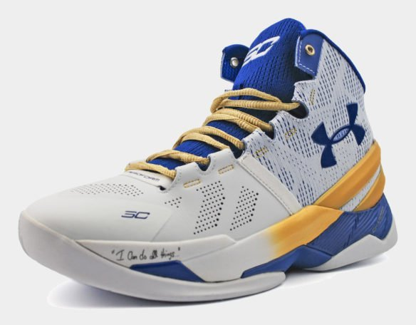 Under Armour Curry Two High белые с синим