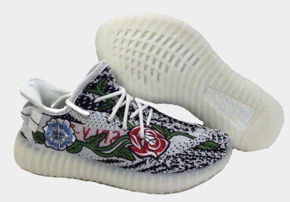 Фото Adidas Yeezy Boost 350 V2 by Kanye West (Zebra Floral) - 1