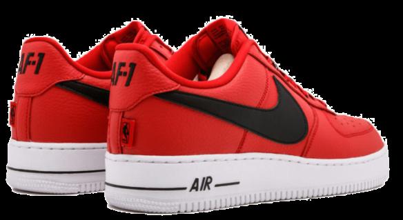 Фото Nike Air Force 1 LV8 NBA красные - 2